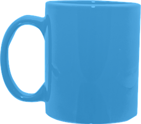 Кружка цилиндр голубая 325 мл, фото 2