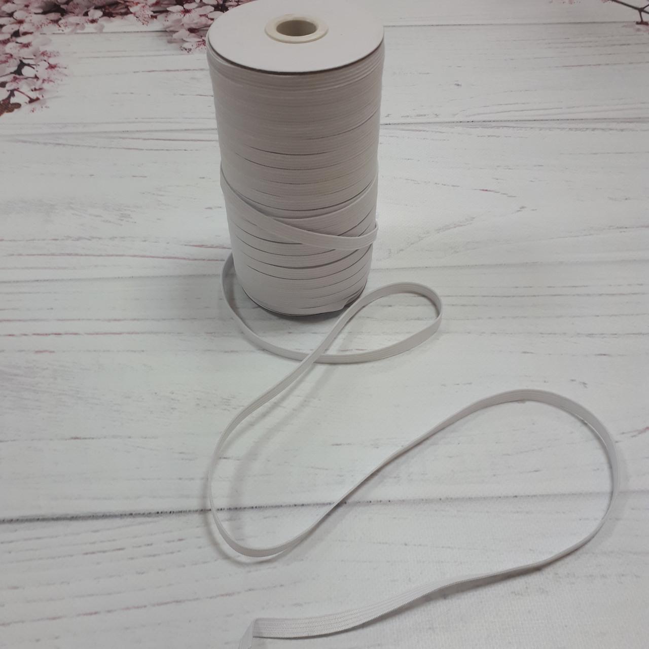 Резинка бельевая белого цвета (8 мм)