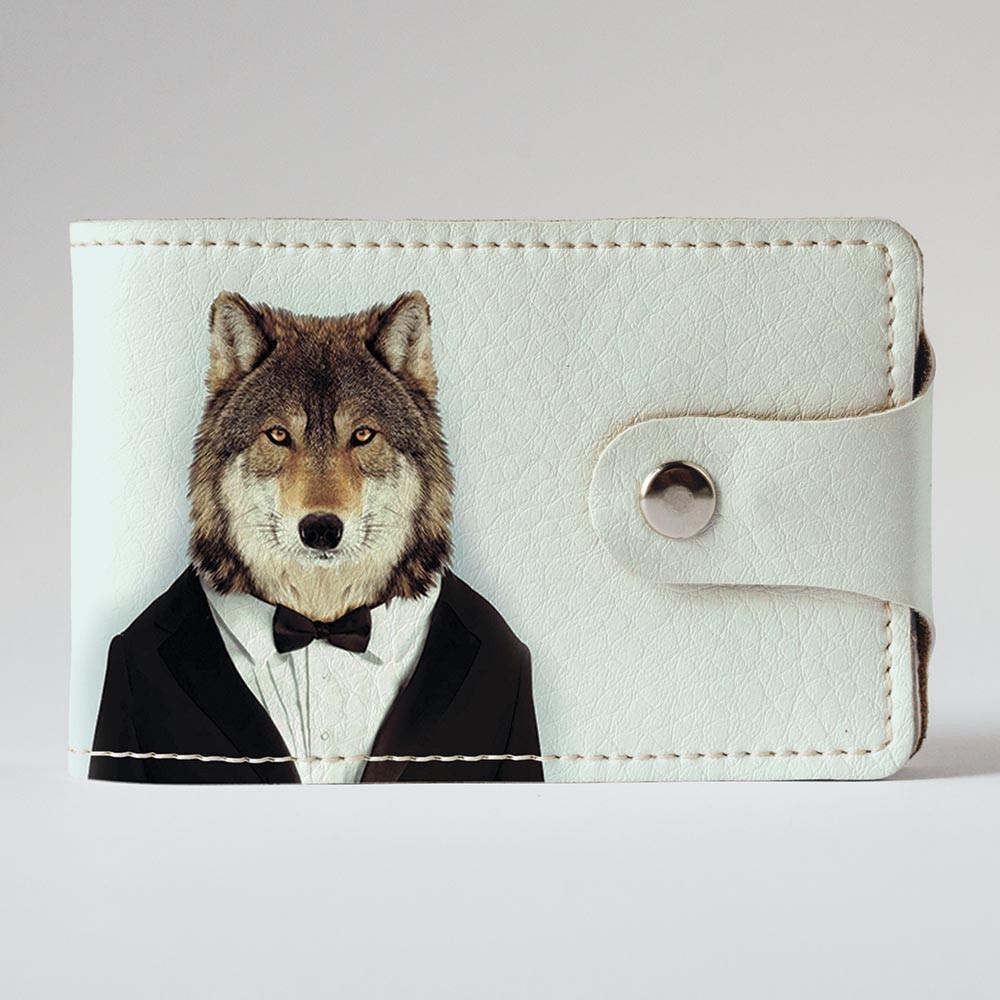 Визитница, картхолдер 2.0 Fisher Gifts 566 Мистер волк (эко-кожа)