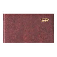 Еженедельник 2019 карманный Brunnen Miradur з/т ярко бордовый, 73-755 60 29