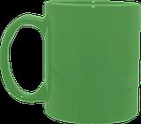 Кружка цилиндр зеленая 325 мл, фото 3