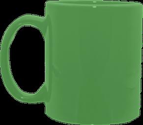 Кружка цилиндр зеленая 325 мл, фото 2