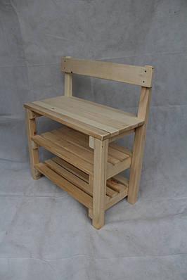 Банкетка из дерева со спинкой
