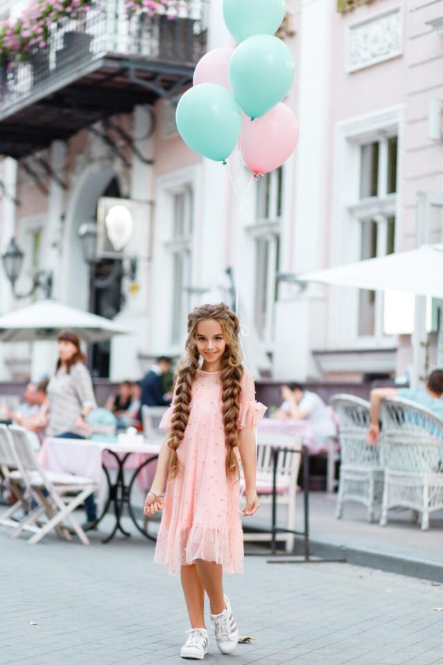 Платье LiLove 383-1 134 розовый