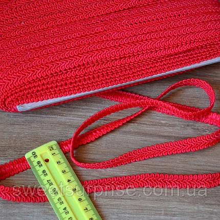 Тесьма шубная (красный), фото 2