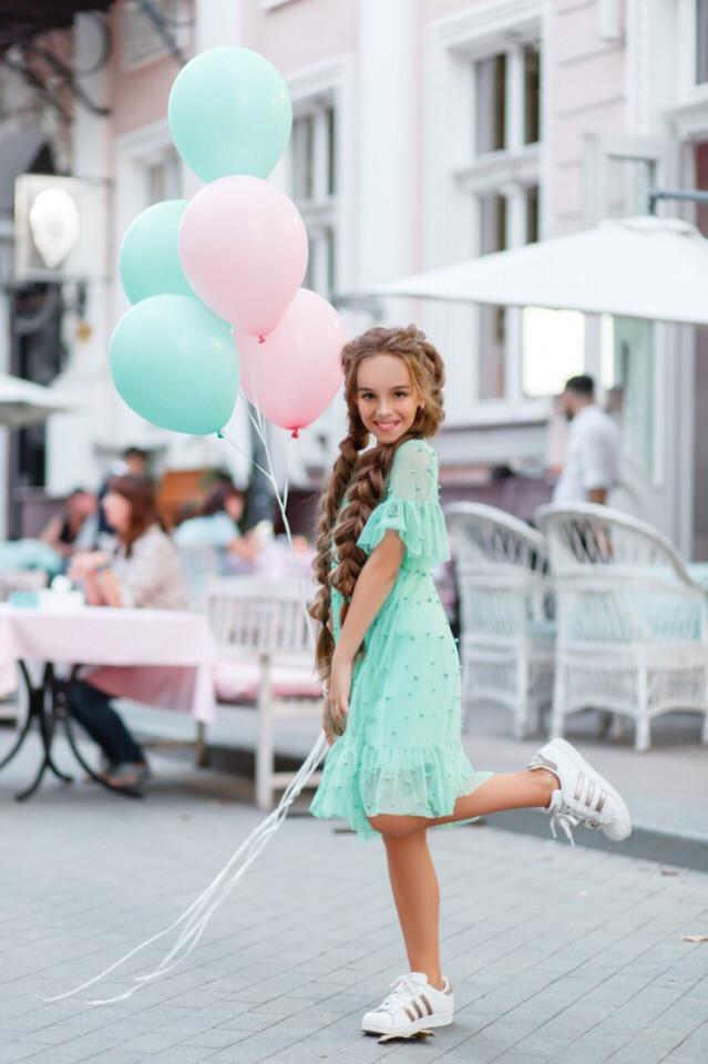 Платье LiLove 383-2 140 ментоловый