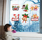 Набір новорічних наклейок (90х60см), фото 5