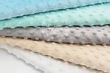 Набор отрезов плюша минки: белый, бежевый, мятный, серый, морской (23*35) №70, фото 2