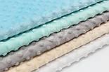 Набор отрезов плюша минки: белый, бежевый, мятный, серый, морской (23*35) №70, фото 3
