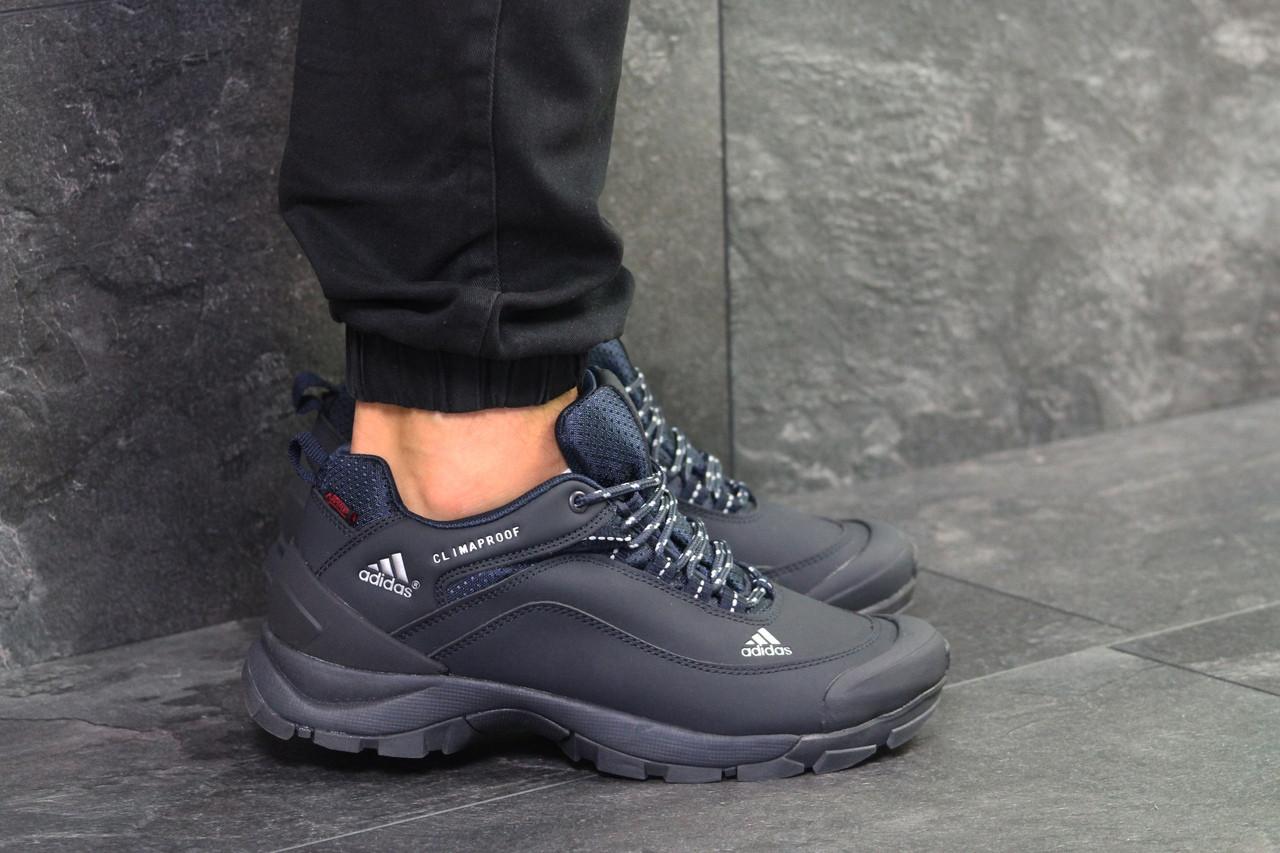 eb8a41e1d374 ... фото · Мужские осенние кроссовки Adidas Climaproof, Темно-синие, Нубук,  Прорезиненные вставки, фото