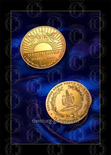 Медаль покрытая золотом