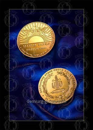 Медаль покрытая золотом, фото 2