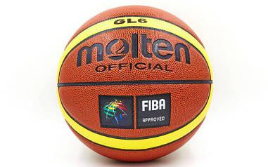 Мяч баскетбольный PU №6 MOL  BA-4254 GL6