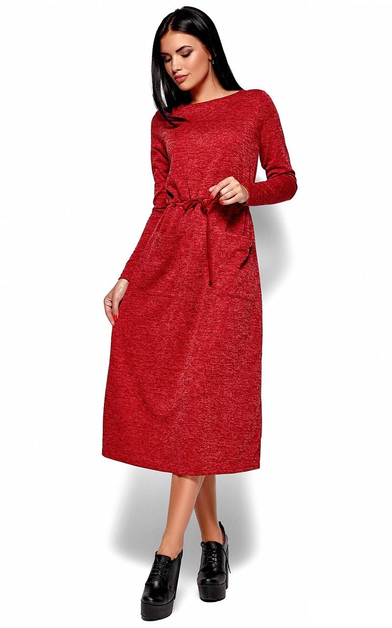 (S, M, L) Повсякденне довге червоне плаття Nikoletta