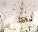 Интерьерная наклейка -  Корабли (120х89см), фото 3