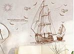 Интерьерная наклейка -  Корабли (120х89см), фото 4
