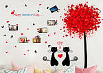 Самоклеющаяся  наклейка  на стену Влюбленные коты  (143х98см), фото 3