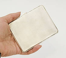 Антикварный серебряный портсигар, серебро 925, E.H. STG SILVER Britannic, Австралия, 1930-1940 гг