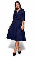 (S / 42-44) Стримане класичне темно-синє плаття Monako