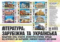 Комплект плакатов для школы Основа Зарубежная и украинская литература 5-11 класс