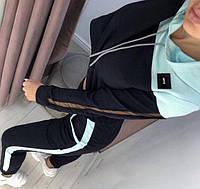 Стильний жіночий спортивний костюм з батником.Р-ри 42-44