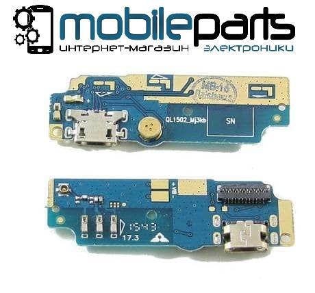 Шлейф (Flat cable) Asus ZenFone Max (ZC550KL) с разъемом зарядки и микрофоном, плата зарядки