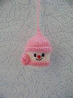 Новогодняя игрушка ручной работы на елку Снеговик, фото 1