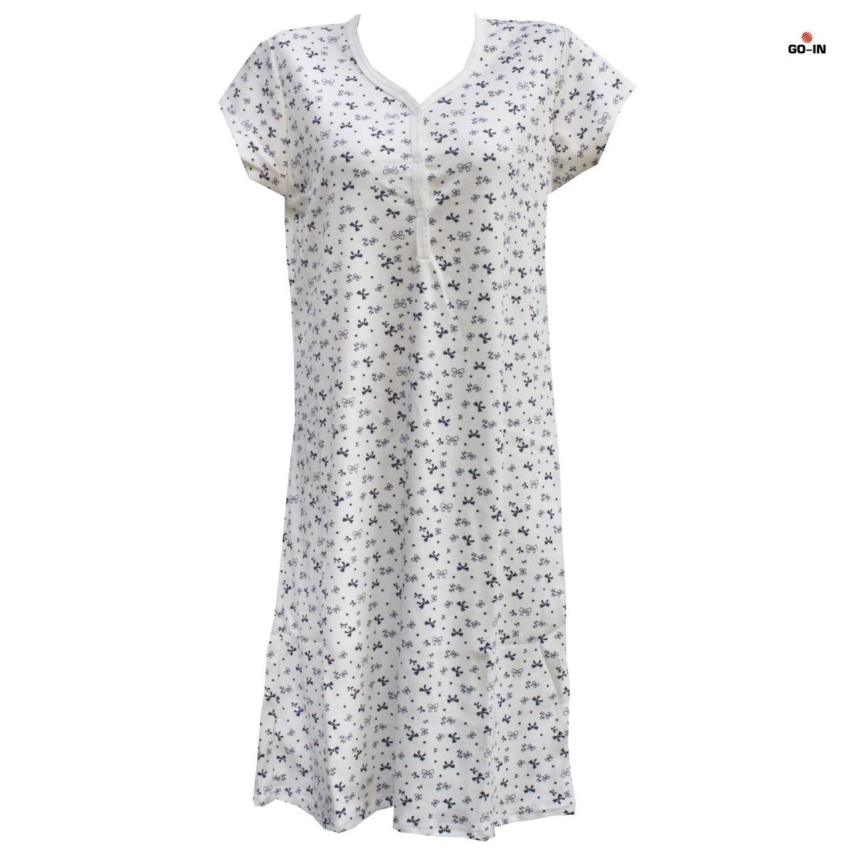 Нічна сорочка інтерлок для кормлящих