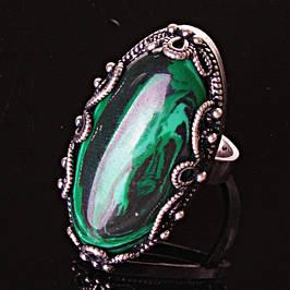 Кольца с малахитом