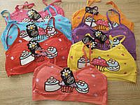 """Топы для девочек Подростков на тонких бретелях с чашечками """"Кап кейки"""""""