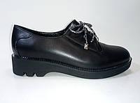 Кожаные женские демисезонные туфли на шнурках ТМ Rifellini, фото 1