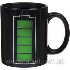Чашка-хамелеон Батарейка, фото 2