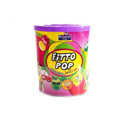 Fitto Pop леденцы  на палочке (SATURN)  в асс 10 г/120 шт/6 в ящ
