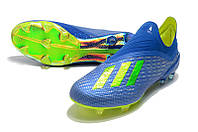 Футбольные бутсы adidas X 18+ FG Football Blue/Solar Yellow/Core Black, фото 1