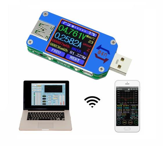 RD UM25C умный USB тестер с выгрузкой по Bluetooth и в xls + Type-C