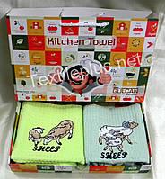 Полотенца махровые кухонные - Gulcan - Sheep - 2 шт. - 40*60 - 100% хлопок - Турция - (kod1495), фото 1