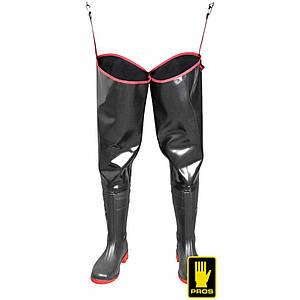 Забродные сапоги AJ-WODSTRONG B с протискользящей подошвой,черно-розового цвета. PROS