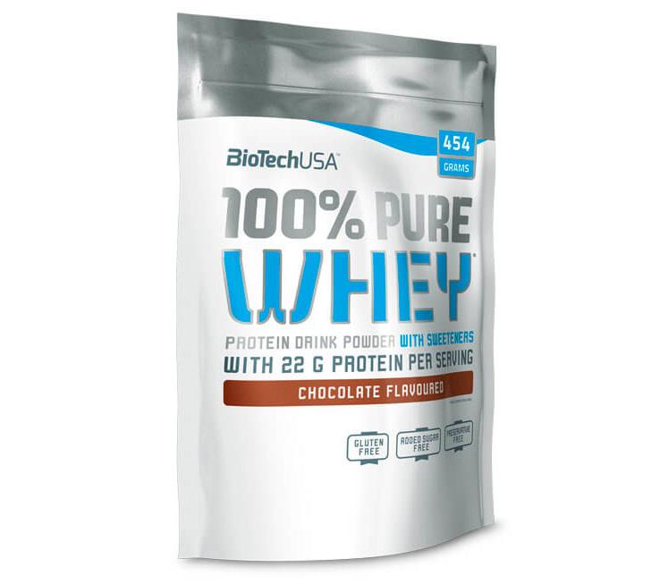 Сывороточный протеин BioTech - 100% Pure Whey (454 грамм) coconut-chocolate/кокос-шоколад