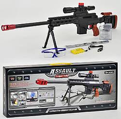 Винтовка АК 47-6 с водяными пульками на аккумуляторе, очки, зарядка в комплекте
