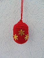 Набор 6 штук Новогодних игрушек ручной работы на елку