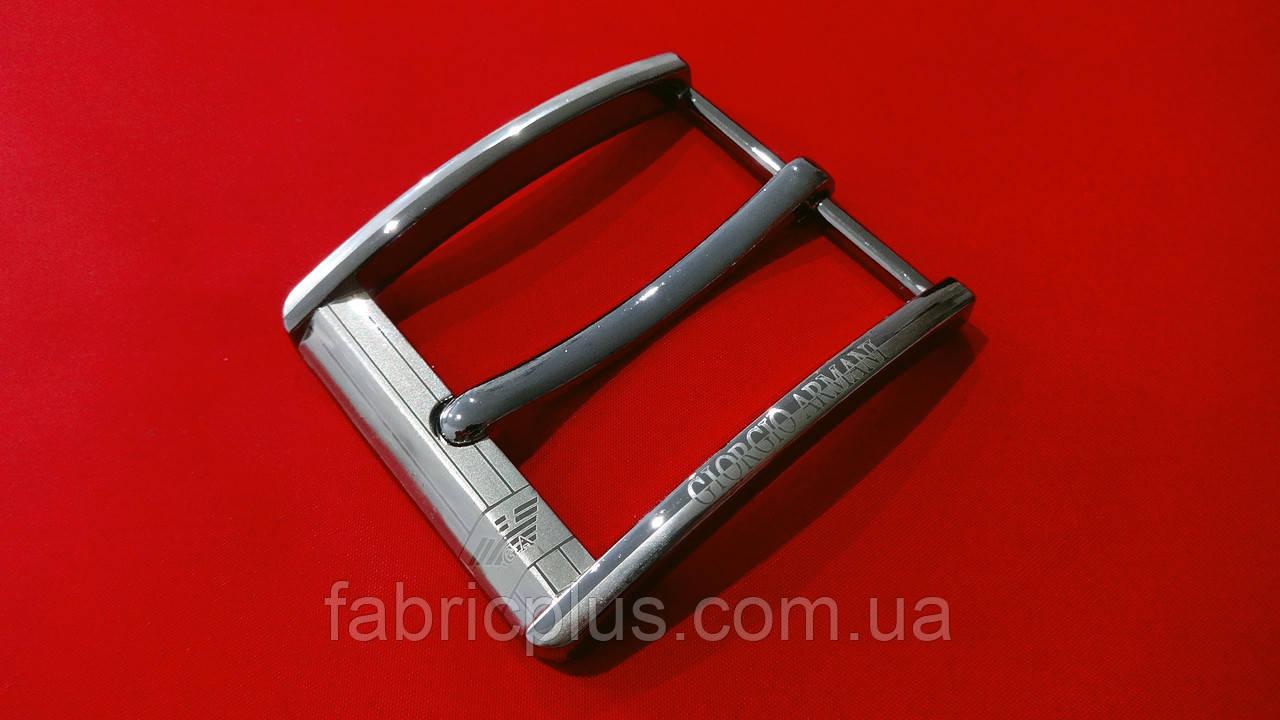 Пряжка для чоловіча поясу 45 мм на 1 прокол, черн. нікель