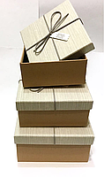 Набор подарочных коробочек квадрат,  большая, комплект 3шт., фото 1