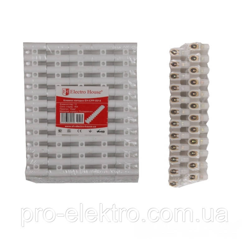 Клеммная колодка (полипропилен) EH-CPP-0014n 16A-12mm2