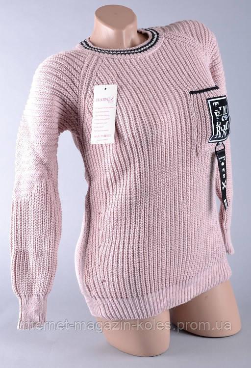 Теплый женский розовые свитер, фото 2