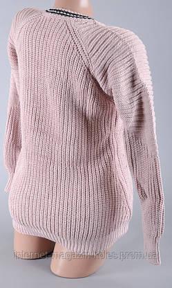 Теплый женский розовые свитер, фото 3