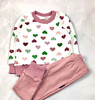Пижама для девочки Овен Сердечки 199-3 (р.104)