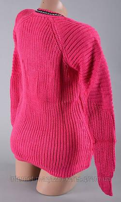 Теплый женский малиновый свитер, фото 3