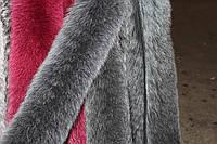 Опушка из песца двойная (70 см) темно-серая