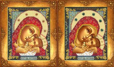 Набір для вишивки бісером Російська майстриня 302 «Богородиця Корсунська»
