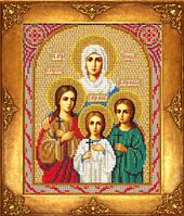 Набор для вышивки бисером Русская искусница 313 «Святые Вера, Надежда, Любовь и мать их София»
